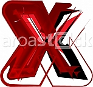 Artistic font letter x