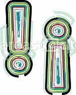 Abstract colorful Exclamation mark