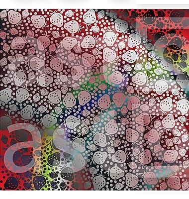 Strawberry pattern illustration