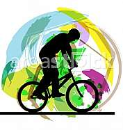 Male on a bicycle