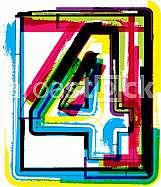 Colorful Grunge Font NUMBER 4
