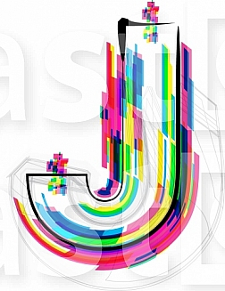 Font illustration, letter J