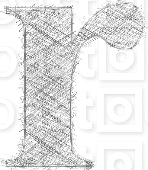 Freehand Typography Letter r