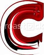 Artistic font letter C