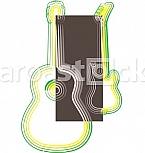 Abstract guitar illustration