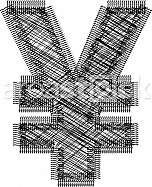 Symbol illustration. YEN symbol