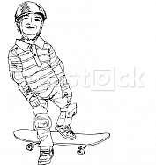 Skater boy illustration
