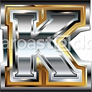 Fancy font Letter K