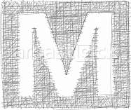 Freehand Typography Letter M