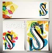 Artistic Greeting Card Font vector Illustration - Letter S