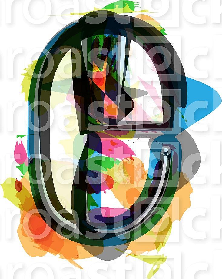 Artistic Font - Letter e