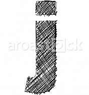 Hand draw font. LETTER j