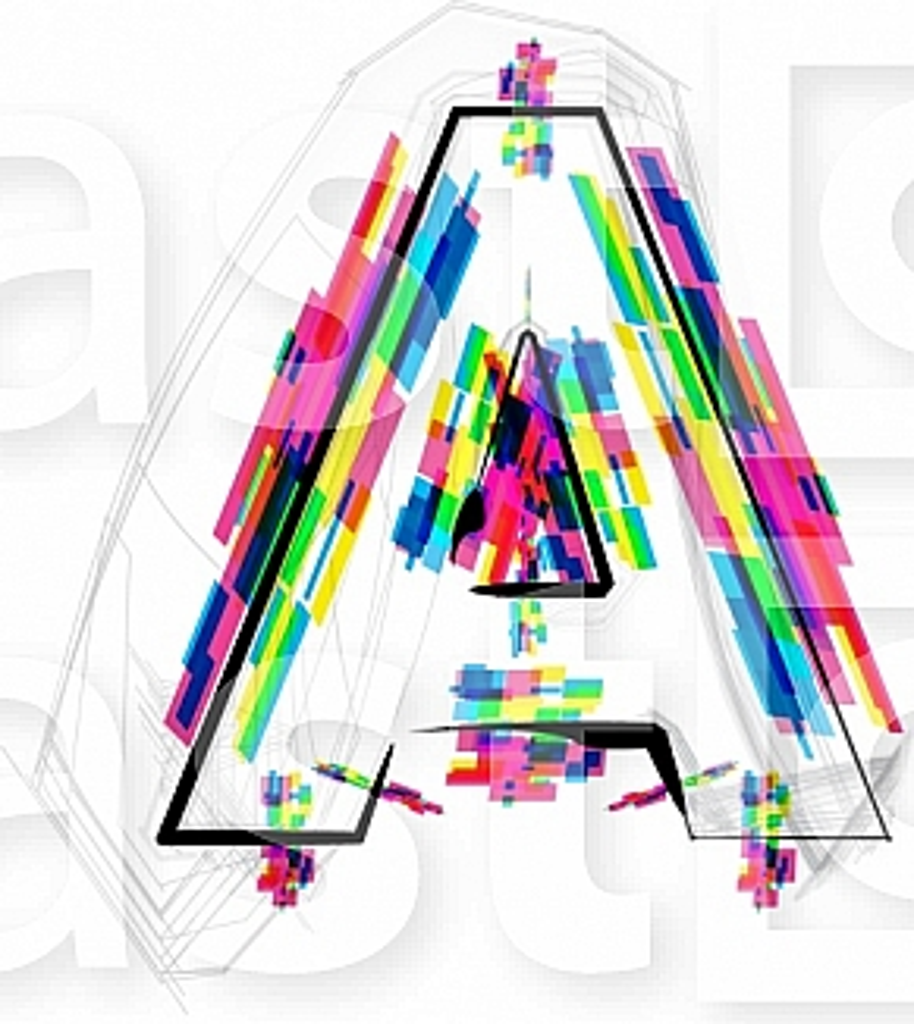 Font illustration, letter A
