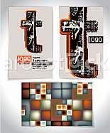 Ancient Business card design LETTER t