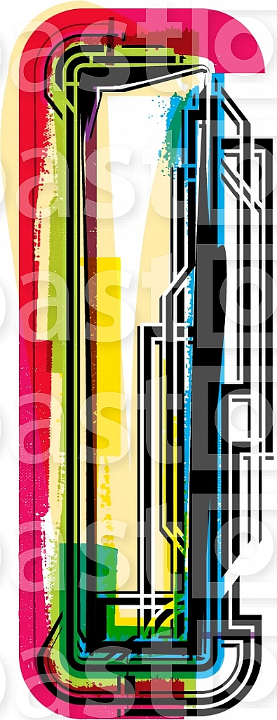 Font Illustration Letter I