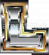 Fancy font Letter L