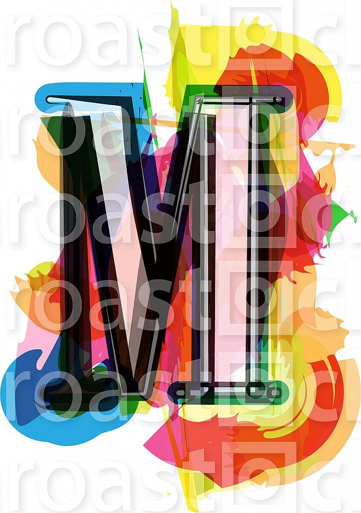 Artistic Font - Letter M