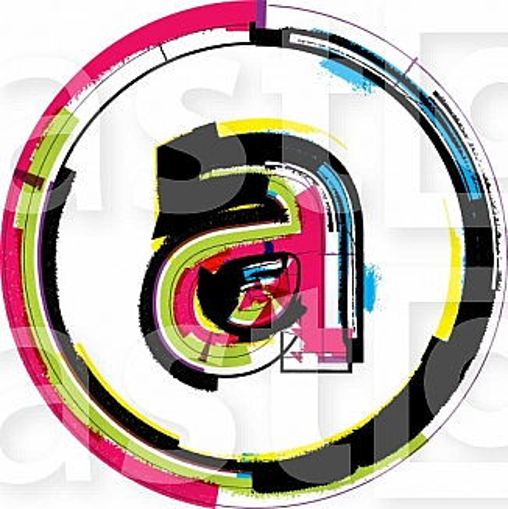 Colorful Grunge Font LETTER a