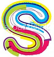 Colorful Grunge LETTER s