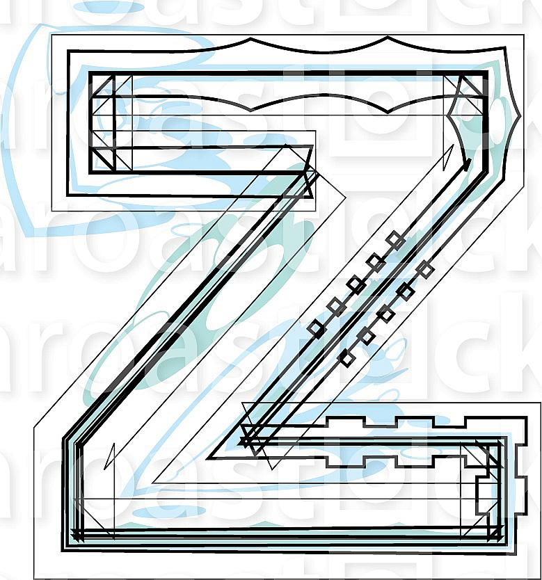 Font illustration letter z