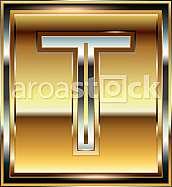 Ingot Font illustration Letter T