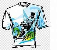 Sport tee vector illustration