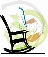 Rocking chair. Vector illustration