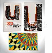 Ancient Business card design LETTER u