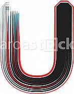 Font Illustration Letter U