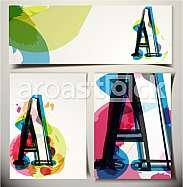 Artistic Greeting Card Font vector Illustration - Letter A
