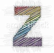 Hand draw font LETTER z