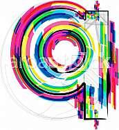 Font illustration, letter q