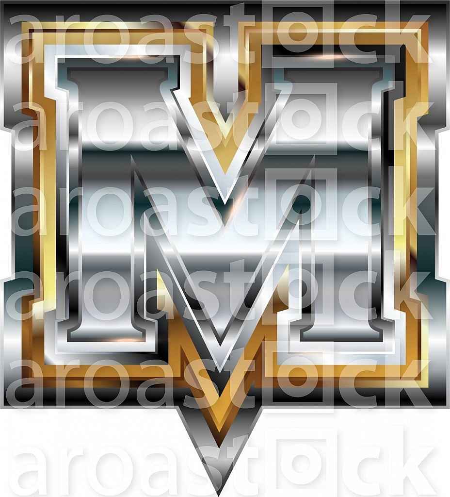Fancy font Letter M