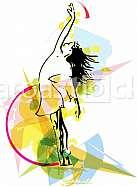 abstract sketch of beautiful ballerina