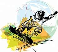 Sandboarding illustration