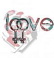 Lesbian love symbols