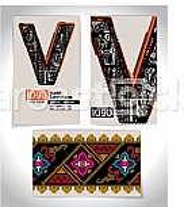 Ancient Business card design LETTER V