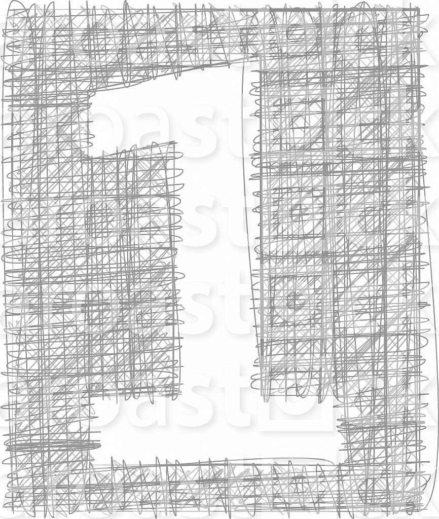 Freehand Typography Number 1