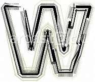 Font Illustration Letter W