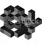 Abstract 3d square background
