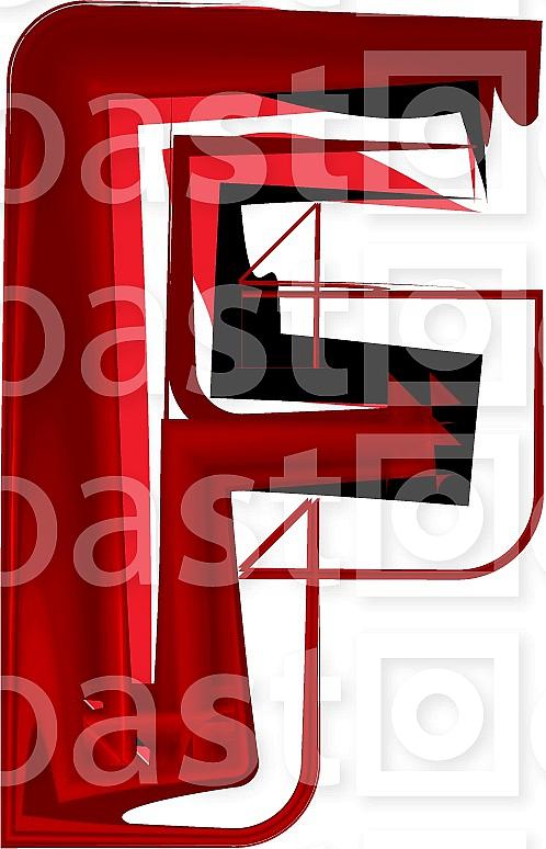 Artistic font letter F