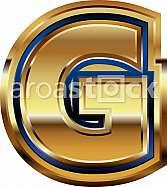 Golden Font Letter G