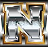 Fancy font Letter N