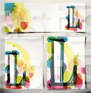 Artistic Greeting Card Font vector Illustration - Letter L