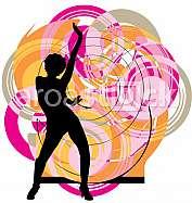 Dancing girl illustration
