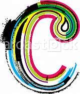 Font illustration, letter c