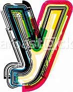 Font illustration letter y