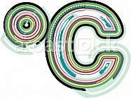 Abstract colorful celcius symbol