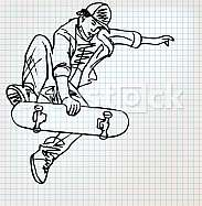 Skater sketch illustration