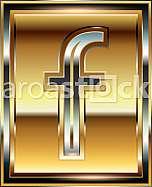 Ingot Font illustration Letter f